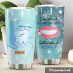 Personalized Cute Dentist Skilled Enough To Save It Stainless Steel Tumbler Perfect Gifts For Dentist Tumbler Cups For Coffee/Tea, Great Customized Gifts For Birthday Christmas Thanksgiving