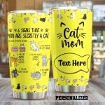 Personalized Cat Mom You Are Secretly A Cat Stainless Steel Tumbler Perfect Gifts For Cat Mom Lover Tumbler Cups For Coffee/Tea, Great Customized Gifts For Birthday Christmas Thanksgiving