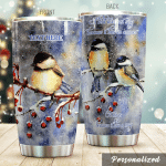 Personalized Chickadee It Has An Answer Stainless Steel Tumbler Perfect Gifts For Chickadee Lover Tumbler Cups For Coffee/Tea, Great Customized Gifts For Birthday Christmas Thanksgiving