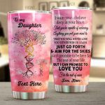Personalized DNA Tree To My Daughter From Mom I Love You For The Rest Of Mine Stainless Steel Tumbler Perfect Gifts For DNA Tree Lover Tumbler Cups For Coffee/Tea, Great Customized Gifts For Birthday Christmas Thanksgiving