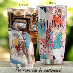 Personalized Sewing Machine Quilting Stainless Steel Tumbler Perfect Gifts For Quiliting Lover Tumbler Cups For Coffee/Tea, Great Customized Gifts For Birthday Christmas Thanksgiving