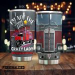 Personalized Trucker Lady I'm Not The Sweet Girl Next Door Stainless Steel Tumbler Perfect Gifts For Truck Driver Tumbler Cups For Coffee/Tea, Great Customized Gifts For Birthday Christmas Thanksgiving