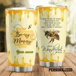 Personalized Beeing Mommy I See Trees Of Green Stainless Steel Tumbler Perfect Gifts For Bee Lover Tumbler Cups For Coffee/Tea, Great Customized Gifts For Birthday Christmas Thanksgiving Mother's Day