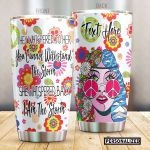 Personalized Hippie Girl And Sunflower I Am The Storm Stainless Steel Tumbler Perfect Gifts For Hippie Tumbler Cups For Coffee/Tea, Great Customized Gifts For Birthday Christmas Thanksgiving
