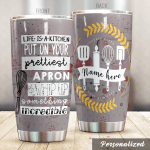 Personalized Baking Like Is A Kitchen Stainless Steel Tumbler Perfect Gifts For Baking Lover Tumbler Cups For Coffee/Tea, Great Customized Gifts For Birthday Christmas Thanksgiving