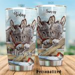 Personalized Donkey Today I Choose Joy Stainless Steel Tumbler Perfect Gifts For Donkey Lover Tumbler Cups For Coffee/Tea, Great Customized Gifts For Birthday Christmas Thanksgiving
