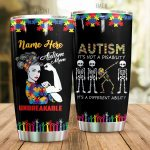 Personalized Autism Mom Unbreakable Stainless Steel Tumbler Perfect Gifts For Autism Mom Tumbler Cups For Coffee/Tea, Great Customized Gifts For Birthday Christmas Thanksgiving Mother's Day
