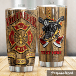 Personalized Firefighter Tradition Dedication Sacrifice Stainless Steel Tumbler Perfect Gifts For Firefighter Tumbler Cups For Coffee/Tea, Great Customized Gifts For Birthday Christmas Thanksgiving