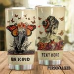 Personalized Butterfly Elephant Be Kind Stainless Steel Tumbler Perfect Gifts For Butterfly Lover Tumbler Cups For Coffee/Tea, Great Customized Gifts For Birthday Christmas Thanksgiving