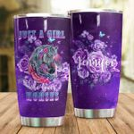 Personalized Floral Horse Just A Girl Love Horse Stainless Steel Tumbler, Tumbler Cups For Coffee/Tea, Great Customized Gifts For Birthday Christmas Thanksgiving