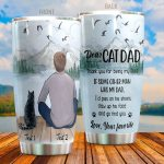Personalized Dear Cat Dad Go Find You Stainless Steel Tumbler Perfect Gifts For Cat Dad Tumbler Cups For Coffee/Tea, Great Customized Gifts For Birthday Christmas Thanksgiving