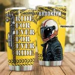 Personalized Motorbike Ride Forever Stainless Steel Tumbler Perfect Gifts For Motorcycle Lover Tumbler Cups For Coffee/Tea, Great Customized Gifts For Birthday Christmas Thanksgiving