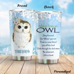 Personalized Owl Trust In A Wise Friend Stainless Steel Tumbler Perfect Gifts For Owl Lover Tumbler Cups For Coffee/Tea, Great Customized Gifts For Birthday Christmas Thanksgiving