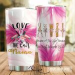 Personalized Hairstylist Love Is In The Hair Stainless Steel Tumbler Tumbler Cups For Coffee/Tea Meaningful Customized Gifts For Birthday Christmas Thanksgiving Awesome Gifts For Hair Stylist
