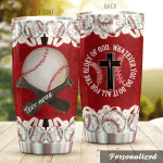 Personalized Baseball Bat And Ball Do It All For The Glory Of God Stainless Steel Tumbler Perfect Gifts For Baseball Lover Tumbler Cups For Coffee/Tea, Great Customized Gifts For Birthday Christmas Thanksgiving
