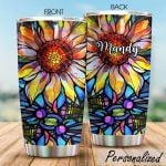 Personalized Hippie Flower Stainless Steel Tumbler Perfect Gifts For Hippie Tumbler Cups For Coffee/Tea, Great Customized Gifts For Birthday Christmas Thanksgiving