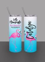 Personalized Let's Flamingle Flamingo Stainless Steel Tumbler, Tumbler Cups For Coffee/Tea, Great Customized Gifts For Birthday Christmas Thanksgiving