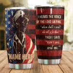 Personalized Nurse American Flag I Heard The Voice Stainless Steel Tumbler Perfect Gifts For Nurse Tumbler Cups For Coffee/Tea, Great Customized Gifts For Birthday Christmas Thanksgiving
