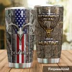 Personalized Deer Hunting American Flag I Plan On Hunting Stainless Steel Tumbler Perfect Gifts For Hunting Lover Tumbler Cups For Coffee/Tea, Great Customized Gifts For Birthday Christmas Thanksgiving