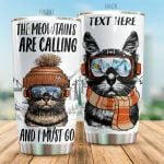 Personalized Cat The Meowtains Are Calling Stainless Steel Tumbler Perfect Gifts For Cat Lover Tumbler Cups For Coffee/Tea, Great Customized Gifts For Birthday Christmas Thanksgiving