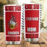 Personalized Chicken Mom Stainless Steel Tumbler Perfect Gifts For Chicken Lover Tumbler Cups For Coffee/Tea, Great Customized Gifts For Birthday Christmas Thanksgiving Mother's Day