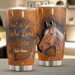 Personalized Love A Horses Stainless Steel Tumbler Tumbler Cups For Coffee/Tea Perfect Customized Gifts For Birthday Christmas Thanksgiving Awesome Gifts For Horse Lovers