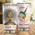 Personalized Yoga Girl Mandala Let That Shit Go Stainless Steel Tumbler Perfect Gifts For Yoga Lover Tumbler Cups For Coffee/Tea, Great Customized Gifts For Birthday Christmas Thanksgiving