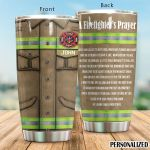 Personalized Firefighter Uniform Wherever The Flames May Race Stainless Steel Tumbler Perfect Gifts For Firefighter Tumbler Cups For Coffee/Tea, Great Customized Gifts For Birthday Christmas Thanksgiving
