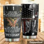 Personalized Veterans American Flag I Have Served With A Few Stainless Steel Tumbler Perfect Gifts For Veteran Lover Tumbler Cups For Coffee/Tea, Great Customized Gifts For Birthday Christmas Thanksgiving