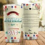 Personalized Family Dear Daddy From Kid You're The Best Dad Stainless Steel Tumbler Perfect Gifts For Family Lover Tumbler Cups For Coffee/Tea, Great Customized Gifts For Birthday Christmas Thanksgiving Father's Day