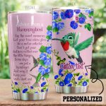 Personalized Hummingbird Let Your True Colors Glow Stainless Steel Tumbler Perfect Gifts For Hummingbird Lover Tumbler Cups For Coffee/Tea, Great Customized Gifts For Birthday Christmas Thanksgiving