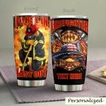 Personalized Proud Firefighter First In Last Out Stainless Steel Tumbler Perfect Gifts For Firefighter Tumbler Cups For Coffee/Tea, Great Customized Gifts For Birthday Christmas Thanksgiving