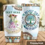 Personalized Yoga Girl I'm Mostly Peace Stainless Steel Tumbler Perfect Gifts For Yoga Lover Tumbler Cups For Coffee/Tea, Great Customized Gifts For Birthday Christmas Thanksgiving