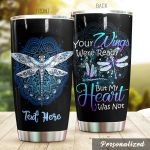 Personalized Dragonfly Your Wings Were Ready Stainless Steel Tumbler Tumbler Cups For Coffee/Tea Great Customized Gifts For Birthday Christmas Thanksgiving Awesome Gifts For Dragonfly Lovers