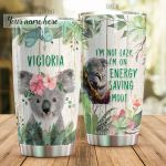 Personalized Koala I'm Not Lazy Stainless Steel Tumbler Tumbler Cups For Coffee/Tea Perfect Customized Gifts For Birthday Christmas Thanksgiving Awesome Gifts For Koala Lovers