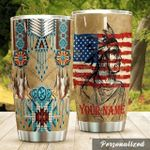 Personalized Native American Tribe Stainless Steel Tumbler, Tumbler Cups For Coffee/Tea, Great Customized Gifts For Birthday Christmas Thanksgiving