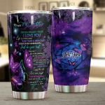 Personalized Purple Butterfly To My Daughter From Mom Learning To Dance In The Rain Stainless Steel Tumbler Perfect Gifts For Butterfly Lover Tumbler Cups For Coffee/Tea, Great Customized Gifts For Birthday Christmas Thanksgiving