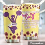 Personalized Cute Cheerleader You Throw A 1 Pound Ball Stainless Steel Tumbler Perfect Gifts For Chearleading Lover Tumbler Cups For Coffee/Tea, Great Customized Gifts For Birthday Christmas Thanksgiving