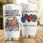 Personalized Hippie Van Peace Love America Stainless Steel Tumbler Perfect Gifts For Hippie Tumbler Cups For Coffee/Tea, Great Customized Gifts For Birthday Christmas Thanksgiving
