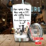 Personalized A Girl Who Loves Dogs Stainless Steel Tumbler, Tumbler Cups For Coffee/Tea, Great Customized Gifts For Birthday Christmas Thanksgiving