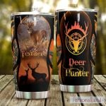 Personalized Deer Hunter Sniper Eye Stainless Steel Tumbler Perfect Gifts For Hunting Lover Tumbler Cups For Coffee/Tea, Great Customized Gifts For Birthday Christmas Thanksgiving