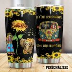 Personalized Sunflower Hippie Elephant On A Dark Desert High Way Stainless Steel Tumbler Perfect Gifts For Elephant Lover Tumbler Cups For Coffee/Tea, Great Customized Gifts For Birthday Christmas Thanksgiving