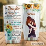 Personalized Sunflower Family To My Daughter From Mom I Love You For More Than You'll Ever Know Stainless Steel Tumbler Perfect Gifts For Sunflower Lover Tumbler Cups For Coffee/Tea, Great Customized Gifts For Birthday Christmas Thanksgiving