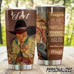 Personalized Cowgirls Cowboy Hats For Halos Stainless Steel Tumbler Tumbler Cups For Coffee/Tea Great Customized Gifts For Birthday Christmas Thanksgiving Awesome Gifts For Cowboy