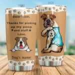 Personalized French Bulldog Dear Mom I Love Mom Stainless Steel Tumbler Tumbler Cups For Coffee/Tea Great Customized Gifts For Birthday Christmas Thanksgiving Perfect Gifts For Dog Lovers