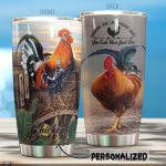 Personalized Chickens Are Like Potato Chips Stainless Steel Tumbler Perfect Gifts For Chicken Lover Tumbler Cups For Coffee/Tea, Great Customized Gifts For Birthday Christmas Thanksgiving
