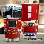 Personalized Firefighter Firetruck Stainless Steel Tumbler Perfect Gifts For Firefighter Tumbler Cups For Coffee/Tea, Great Customized Gifts For Birthday Christmas Thanksgiving