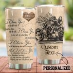 Personalized Biker I Choose You At The Beginning Stainless Steel Tumbler Perfect Gifts For Biker Tumbler Cups For Coffee/Tea, Great Customized Gifts For Birthday Christmas Thanksgiving
