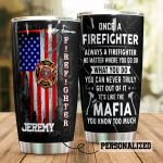 Personalized Firefighter American Flag You Can Never Truly Get Out Of It Stainless Steel Tumbler Perfect Gifts For Firefighter Tumbler Cups For Coffee/Tea, Great Customized Gifts For Birthday Christmas Thanksgiving