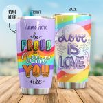 Personalized LGBT Be Proud Stainless Steel Tumbler Perfect Gifts For LGBT Lover Tumbler Cups For Coffee/Tea, Great Customized Gifts For Birthday Christmas Thanksgiving
